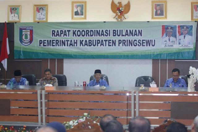 Camat Pardasuka mengikuti Rapat Koordinasi Tingkat Kabupaten Pringsewu